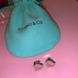 Tiffany Mini Heart Tag Earrings SS